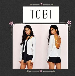 Tobi Strappy Open Back Blouse size Med NWT